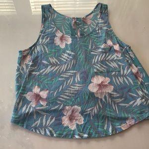 Cute Hawaiian Flower Tank Top